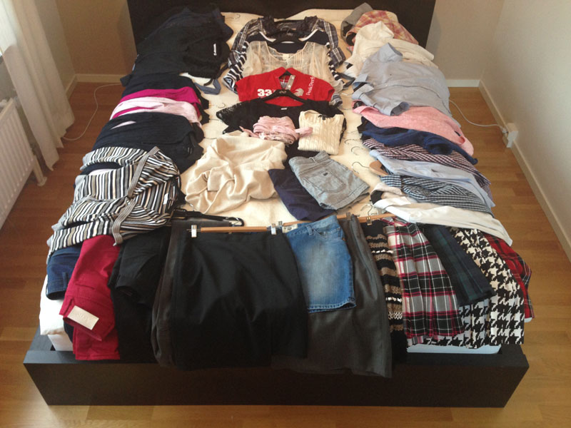 Innan capsule wardrobe konceptet nått Fru Minimalist. :)
